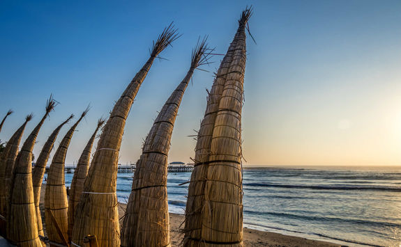 Reed boats Huanchaco Beach