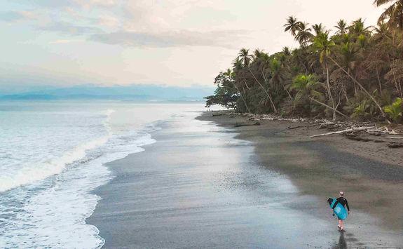 beach walk surf