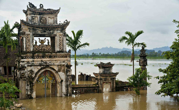 Old water puppet theatre in Ninh Binh