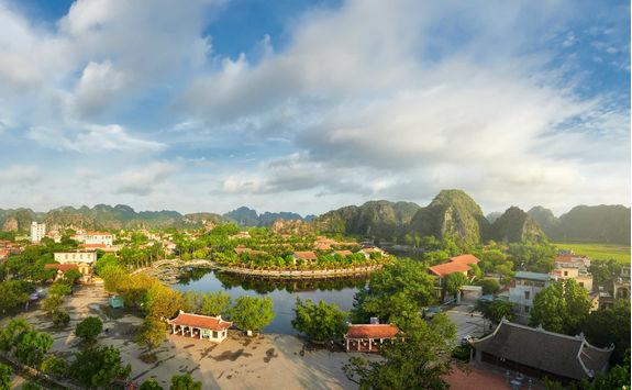 Panoramic view of Tam Coc village