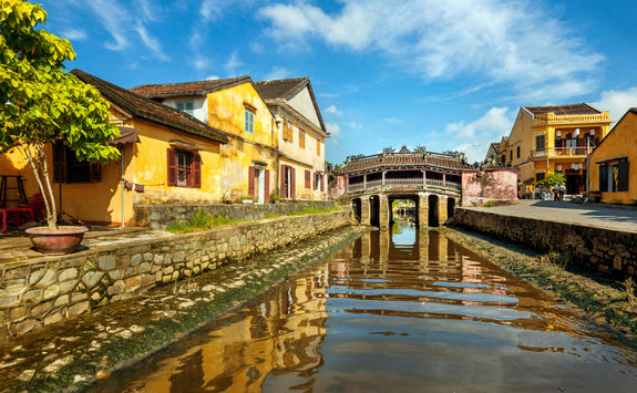 The Japanese covered bridge in Hoi An