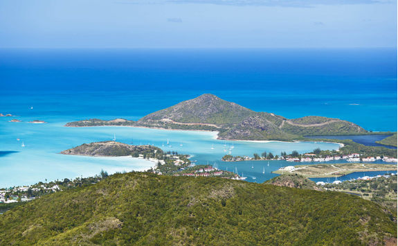 Antigua from the view of Boggy Peak