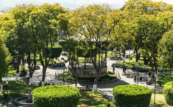 Town square in Morelia