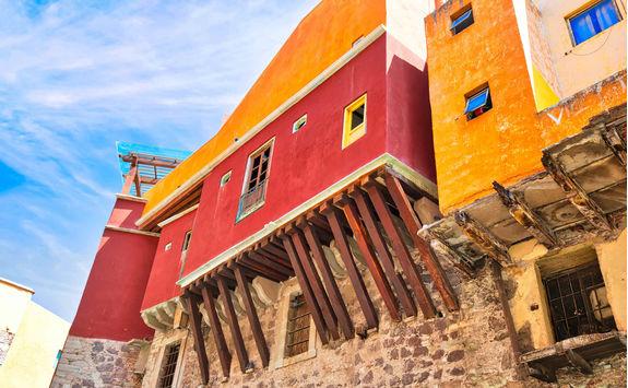 Scenic old town street in San Miguel de Allende