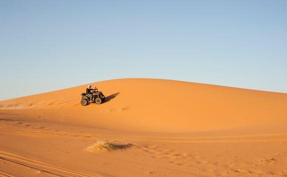 quadbike in the desert