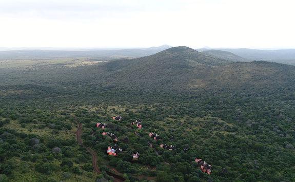 Thanda Safari lodge aerial