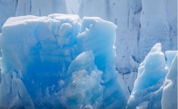closeup view of grey glacier iceberg