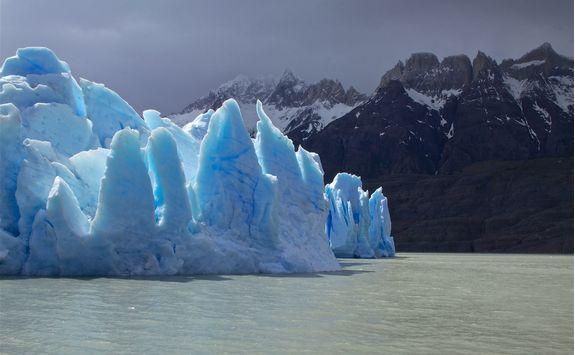 spectacular grey glacier