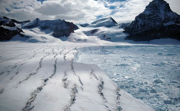 melting antarctic glacier