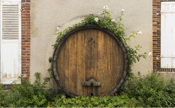 Champagne barrel in Hautvillers