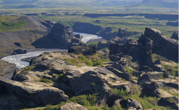 Volcanic mountain in Jokulsargljufur National Park