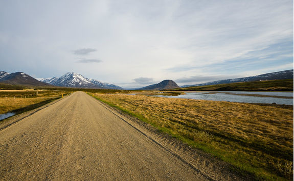 East Iceland road and landscape