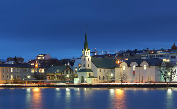 Night view of Reykjavik