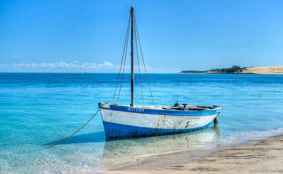 Boat in Bazaruto Island