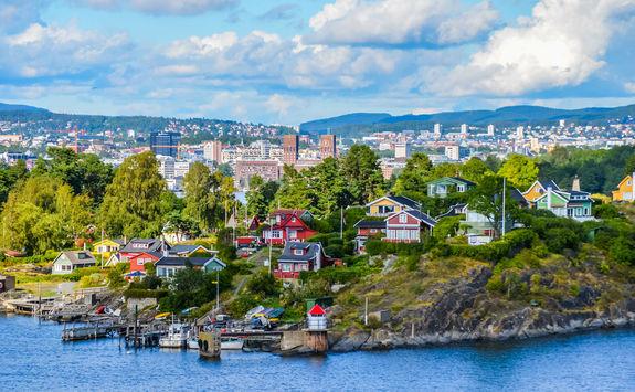 Scandinavian houses in Oslo