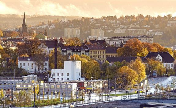Morning skyline of Oslo
