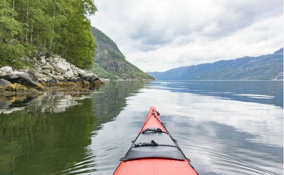 Kayaking a Fjord