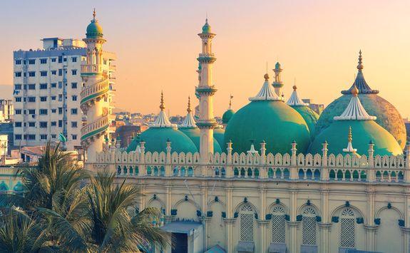 Sunset over Jama Masjid mosque