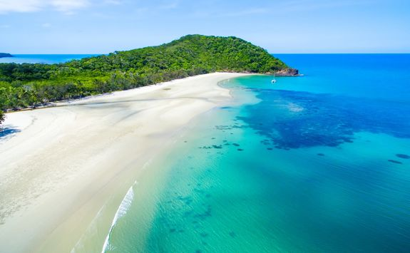 Aerial view of Cape Tribulation