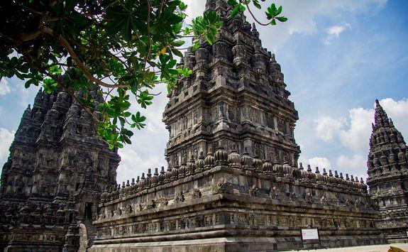 Prambanan temple pillar
