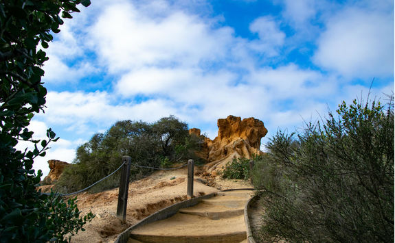 Stairway to Red Butte in the Torrey Pines State Reserve