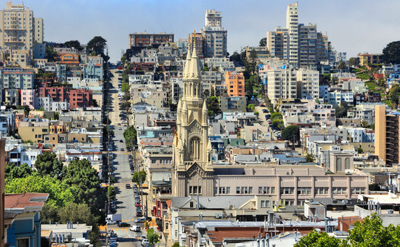 Top view of Russian Hill