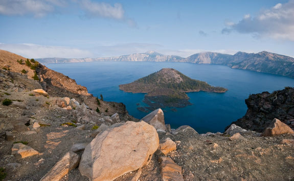 Top view of Crater Lake