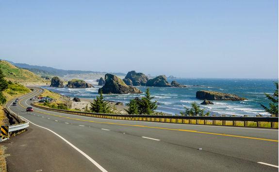 Coastal road in Oregon