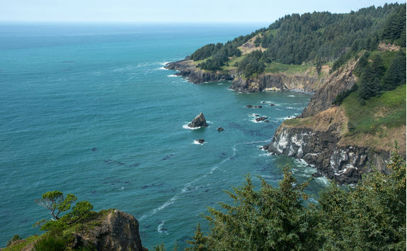 Top view of Oregon Coast