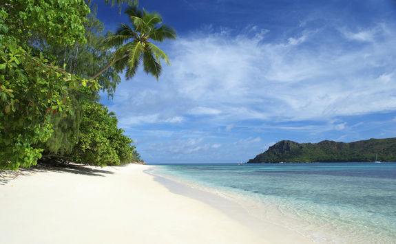 Beach in Praslin Island