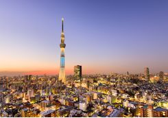 Skytree Tower in Tokyo at dusk