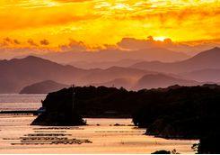 Ago Bay at dusk