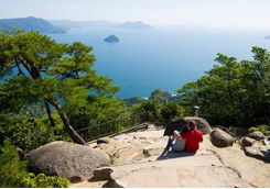 View of the inland sea from the top of Mount Misen