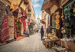 Market alley in Marrakech
