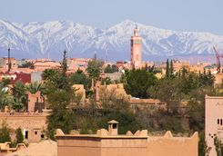 View over the Atlas Mountains