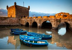 Essaouira harbour and boats