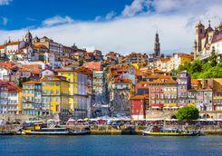 Colourful Porto old city