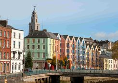 Colourful Houses in the city of Cork