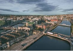 aerial view of Cork