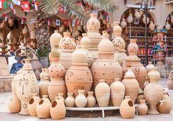 Market Nizwa terracotta pots