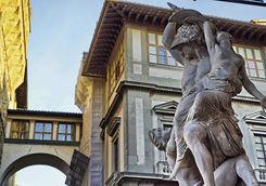 the rape of polyxena in loggia dei lanzi signoria square