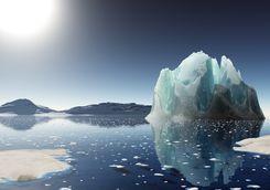 icerberg sunset