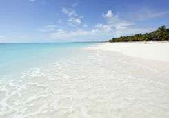White sandy beach in Antigua