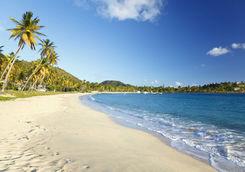 Sandy beach in Antigua