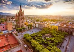 Over view of San Miguel de Allende in Mexico
