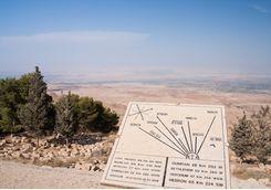 map of the holyland on mount nebo