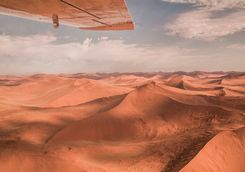 sand desert dunes aerial view
