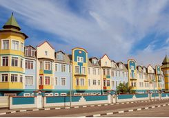 colorful colonial houses
