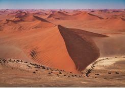 namib desert dunes aerial view