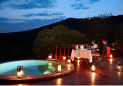 Thanda private deck dining